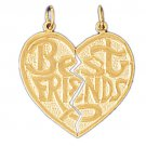 14K GOLD SAYING CHARM - BEST FRIENDS #10350