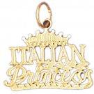 14K GOLD SAYING CHARM - ITALIAN PRINCESS #10412