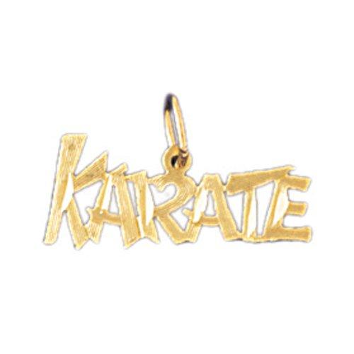 14K GOLD SAYING CHARM - KARATE #10853