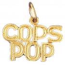 14K GOLD SAYING CHARM - COPS POP #10921