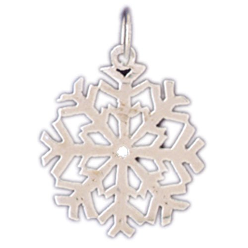 14K WHITE GOLD CHRISTMAS CHARM - SNOWFLAKE #11324
