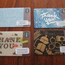 STARBUCKS GIFT CARDS - SET OF 4 BILINGUAL (French, English), NEW, THANK YOU