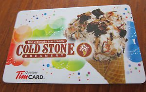 TIM HORTONS / TIM HORTON'S COLLECTOR GIFT CARD - Cold Stone NEW 2013