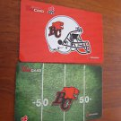 TIM HORTONS / TIM HORTON'S COLLECTOR GIFT CARD - BC Lions Cards NEW 2012/2015