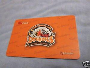 TIM HORTONS / TIM HORTON'S COLLECTOR GIFT CARDS Dragons Drumheller FD42400