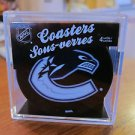 NEW VANCOUVER CANUCKS NHL TEAM LOGO 4 COASTER SET from Actual Puck
