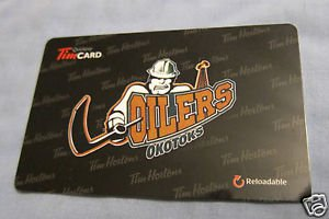 TIM HORTONS / TIM HORTON'S COLLECTOR GIFT CARDS Oilers Okotoks FD42399