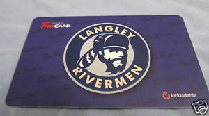 TIM HORTONS / TIM HORTON'S COLLECTOR GIFT CARDS - Langley Rivermen 2014 FD42380
