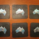 I love Australia - 6 premium quality coasters with engraved map