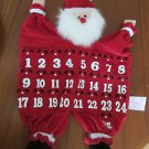 Vintage Christmas Fabric for Hanging Santa Advent Calendar from AVON