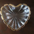 Heart shaped Plate with Golden Rim - for candies or cookies