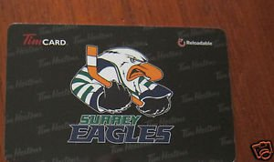 TIM HORTONS COLLECTOR GIFT CARD - Surrey Eagles FD48388