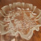 Mikasa Crystal Christmas Story Round Serving Plate - 10""