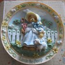 Little Bo Peep Ceramic Plate, Cherished Teddies, 3D, Nursery Rhymes Collection