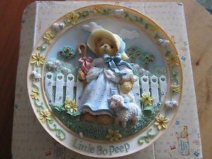 Little Bo Peep Ceramic Plate, Cherished Teddies, 3D, Nursery Rhymes Collection