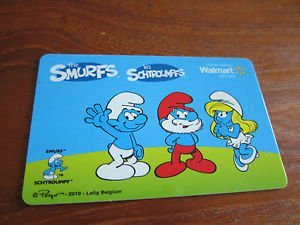 Walmart COLLECTOR GIFT CARD - The Smurfs, Les Schtroumpfs, French / English