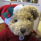 "Russ Berrie Sammy Santa Plush Teddy Bear Stuffed Animal 14"" Puppy Christmas Doll"