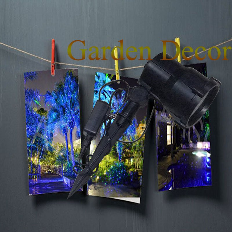 Moving Single Blue Moving Graden Laser Porjecor with Stake for Garden outdoor decoration