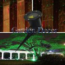 Outdoor landscape garden red&green laser light for holiday decoration