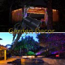 Red&Green&Blue Static Garden Laser Light for Christmas outdoor decoration with RF remote