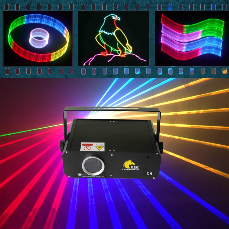 1W RGB laser with 2D/3D/SD laser lighting disco party laser dj stage lights show