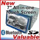 "Double 2 Din 7"" LCD Motorised Touch Screen DVD TV Player with Built-in SD Card"