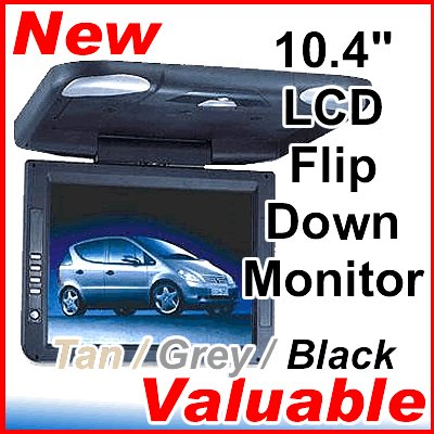 "10.4"" TFT LCD Flip Down Monitor for DVD Divx MP3 Player"