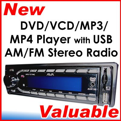 In Dash Car DVD VCD CD MP3 USB FM Stereo SD MMC Player