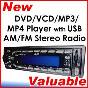 In Dash Car DVD VCD CD MP3 USB FM Stereo SD MMC Player