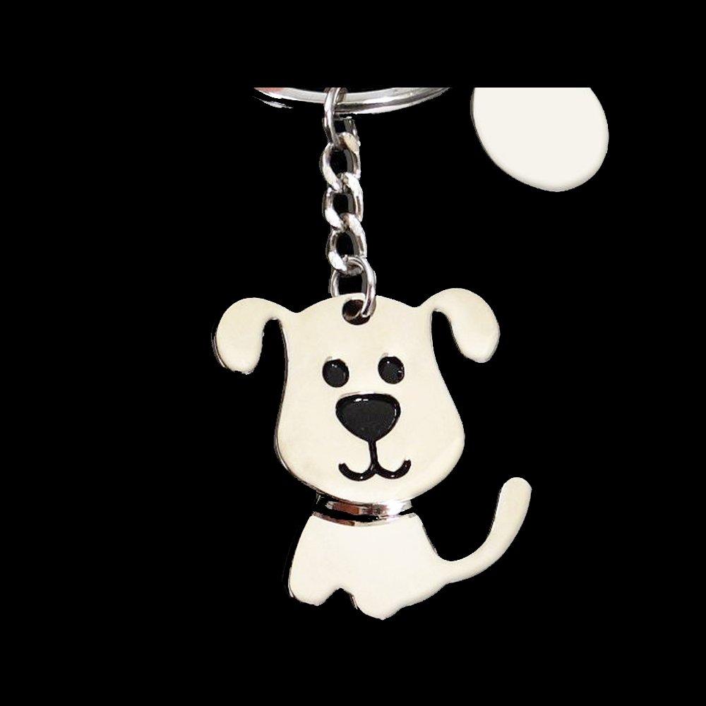Cute Dog Keychain Keyring Silver Metal Charm Pendant Purse Key Chain