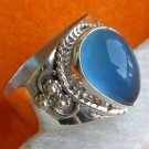 Pure 925 Sterling Silver Handmade Ring with Chalcedony Custom Size 6-12 (US)