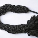 "Fine AAA Quality 2 mm Micro Faceted Black Spinel Rondelle Beads 13"" - 5 Strands"
