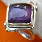 Pure 925 Sterling Silver Handmade Fancy Ring with Amethyst Custom Size 6-12 (US)