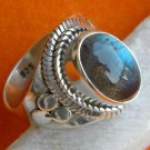 Pure 92.5 Solid Sterling Silver Genuine Labradorite Handmade Ring Size 4-13 (US)