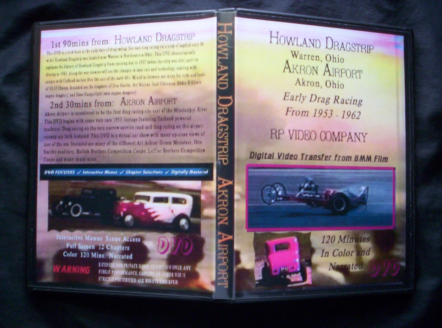HOWLAND DRAGSTRIP DVD Early Drag-Racing From 1953-1962