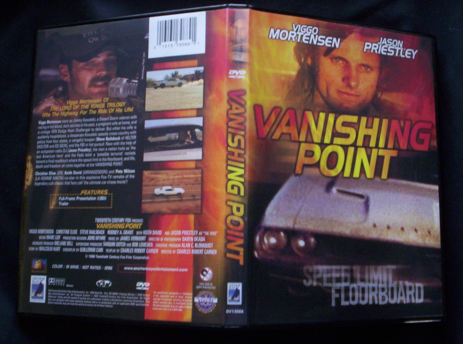 Vanishing Point DVD 1997 Jason Priestley