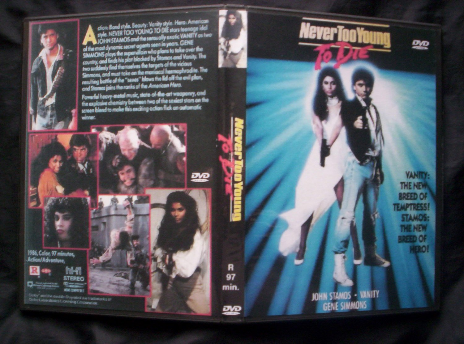 NEVER TOO YOUNG TO DIE DVD 1986John Stamos