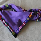Blank Purple Neckerchief Foulard with World Scouting flags stripe all around