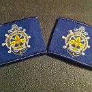 Sea Scouts of Egypt Official pair of Stripes with Anchorin English & Arabic
