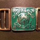 Girl Scouts of Egypt Belt Buckle Fireman style with girl guides flower VERY RARE