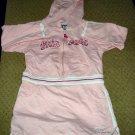 Girls Pink Long Sleeve Hooded Dress 4T