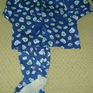 Boys 2 Piece Christmas Print Footed Pajamas 4T