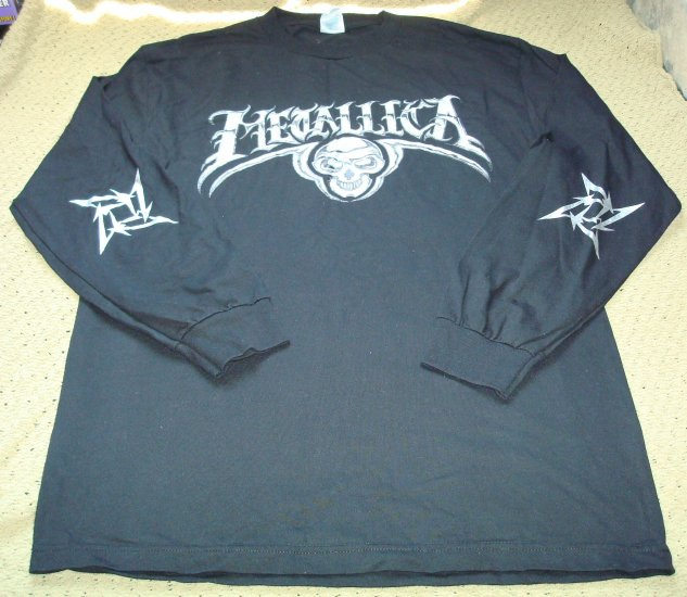 Mens Guys Metallica Long Sleeve Concert Shirt Size Large