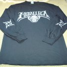 Mens Guys Metallica Long Sleeve Concert Shirt Size Large