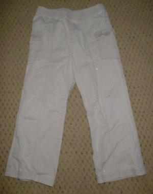 Girls Ruffled Khaki Pants 4T