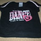 "Danskin Black Pink ""I love to Dance"" Top Size 4 5"