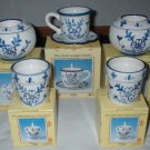 Blue Delft China Candle Holder Teacup Lot Set  CL3