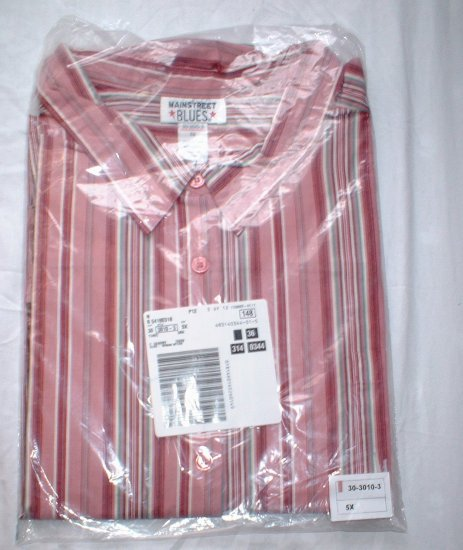 Plus Size Lane Bryant Woman Within Pink Stripe Megashirt NEW 5X