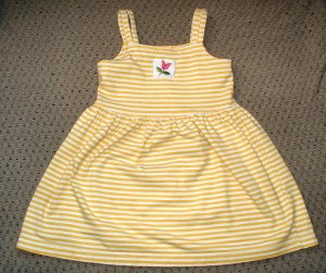 Girls Yellow Fitted Tulip Sundress 4T