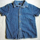 Collared Denim Short Sleeve Shirt Size 5